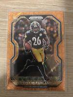 2020 Panini Prizm Anthony McFarland Jr. ORANGE LAZER RC Rookie #393 Steelers