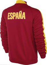 New Mens Large Nike Espana Red Gold Soccer Track Jacket $100 629630-611