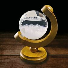 More details for storm globe with wooden stand fitzroy weather prediction tool crystal dad gift
