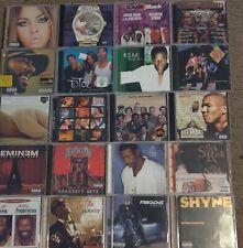 LOT OF 20 ASSORTED RAP HIP HOP R & B MUSIC CD'S R KELLY EMINEM KEITH SWEAT