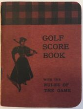 Golf Score Book With the Rules of the Game 1898 Noyes Brothers Boston USGA