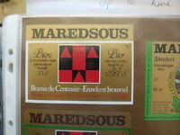 VINTAGE BELGIUM BEER LABEL. MAREDSOUS BREWERY - CENTENARY BEER 33 CL