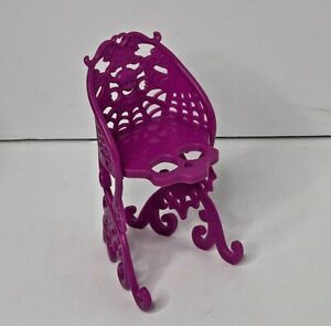 Monster High 2012 Scaris City of Frights Pink Purple Magenta Cafe CHAIR