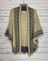Umgee USA Boutique Women's S/M Small Medium Boho Fall Kimono Sweater Cardigan