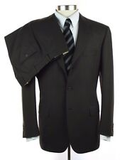 New BRIONI Nomentano 21 Brown Solid Wool Flat Front Suit 50 40 40R NWT $5495!