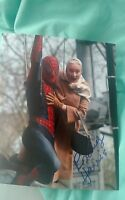ROSEMARY HARRIS SIGNED 8X10 PHOTO SPIDER-MAN AUNT MAY TOBEY W/COA+PROOF RARE WOW