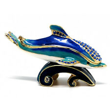 Dolphin Jewelled Trinket Box or Figurine
