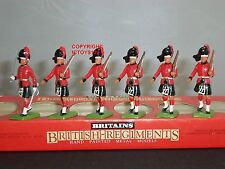 DE GRANDE-BRETAGNE 7235 5 BLACKWATCH HIGHLANDERS+OFFICIER MÉTAL JOUET SOLDAT