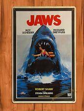 "Tin Sign ""Turkish Jaws"" Spielberg Movie Period Art Poster Wall Decor"