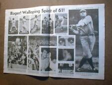 1961 displayable newspaper reprint ROGER MARIS sets new Home Run Record of 61