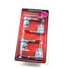Grover Chrome Titan Heavy Duty 4 Inline Bass Guitar Tuners Machine Heads 145C4