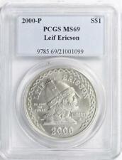 2000-P Leif Ericson Commemorative Silver Dollar-PCGS MS-69  Mint State 69