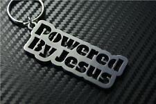POWERED BY JESUS Keyring keyfob Schlüsselring porte-clés christianity GOD FAITH
