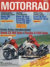Motorrad 13/82 1982 Maico Honda CX500 Yamaha XJ650 Turbo CBX Pro Link XS400 moto