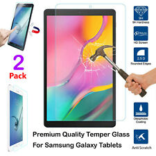 2 Pack HD Screen Clear Protector 9H Tempered Glass For Samsung Galaxy Tablets