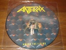 ANTHRAX AMONG THE LIVING UK 9-TRACK PICTURE DISC LP 1986 W/ ORIGINAL PVC SLEEVE