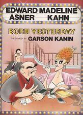 "Madeline Kahn & Edward Asner ""Born Yesterday"" Souvenir Program 1989  Hirschfeld"