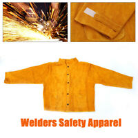 Cowhide Leather Safety Welding Coat Protective Apron Apparel Jacket Work Suit