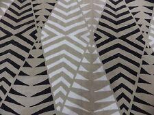 Warwick Masara Fabric Remnant 4 Off cuts Geometric Natural Linen Black White