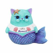 More details for i am a mermaid snapcat ornament filter cute cat figurine 8.5cm nemesis now