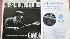 SXL 2266 WBg  GAMBA ROSSINI OVERTURES LONDON SYMPHONY NM