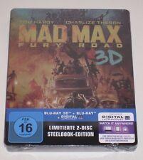 MAD MAX FURY ROAD tedesco 3d + Blu Ray Steelbook Germania-NUOVO SIGILLATO Limited