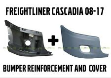 Freightliner Cascadia Bumper Right Side Reinforcement & Cover With Fog Hole