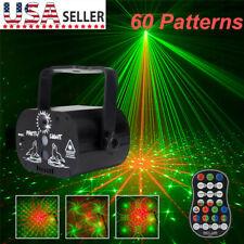 60 Patterns Projector Led Rgb Laser Stage Light Dj Disco Ktv Halloween Lighting