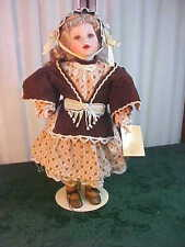 Adorable Franklin Heirloom Porcelain Doll w/Doll Stand