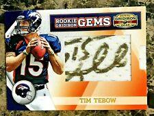 Tim Tebow AUTO 2010 Gridiron Gear Rookie Gems Jsy #261 Denver Broncos RC /259