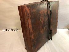 Vintage  fiberboard  Suitcase  Box (808)