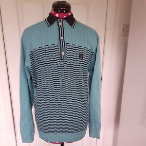 GABICCI Long Sleeve Stripe Polo Shirt