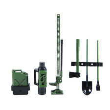 Accessory Tool Set Green Racing 1/10th Scale RC Car Crawler Winch Pry Bar Can