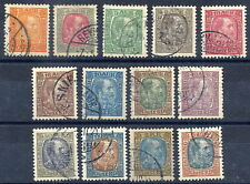 ICELAND 1902-04 Christian IX definitive set used