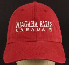 Niagara Falls Canada Souvenir Red Baseball Cap Hat Adjustable
