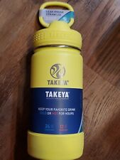 Takeya Actives 14oz Insulated Stainless Steel Water Bottle YELLOW - w/ Loop