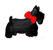 Scottie - Terrier - Dog - Pet - Fully embroidered Iron On Applique Patch - R