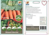 De Ree Allotment Collection 5M Seed Tape Root Variety  Quality Vegetable Seeds