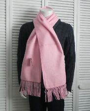 NEW Peru Luxurious Fringed Solid Pink Alpaca Long Scarf