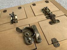 "Wood Locks & Latches Board Doors Wooden Educational Toy Brass 13x10"" dexterity"