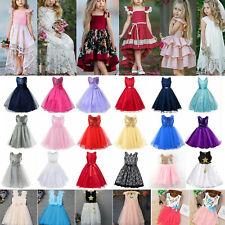 Girls Kids Birthday Party Tulle Tutu Dresses Princess Flower Wedding Prom Dress