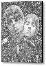 Oasis Wonderwall Lyrics Incredible Mosaic Framed Print Limited Edition w/COA