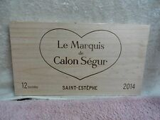 2014 CHATEAU CALON SEGUR SAINT ESTEPHE LE MAQUIS  WOOD WINE PANEL END