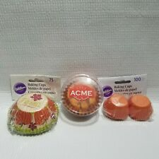 199 Muffin Cupcake Liner Baking Cup Standard Mini Size Autumn Fall Bake Sale Lot