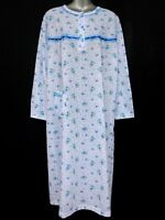 "100%COTTON (SOFT)RIBBED JERSEY COTTON NIGHTDRESS 43""LENGTH NIGHTWEAR NIGHTY"