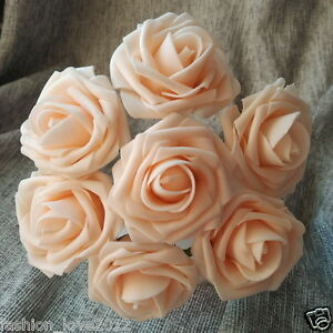 100 Blush Pink Wedding Flowers Champagne Roses For Bridal Bouquet Centerpieces