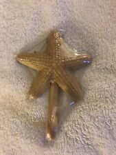 Beige Starfish Shaped Metal Wall Hook Towel Coat Jacket Hanger