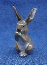 New ListingRoyal Copenhagen porcelain Rabbit Hare Bunny figure nibbling lettuce Denmark