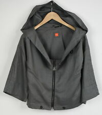 HUGO BOSS ORANGE OBERY Women'S UK 8 or ~s 100% Ramie Hooded Short Blazer 27746-S