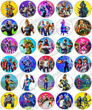30 x Fortnite Game Fun Party Edible Rice Wafer Paper Cupcake Toppers